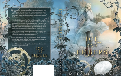 "Cover: ""Ice and Embers"" by Melanie Karsak"