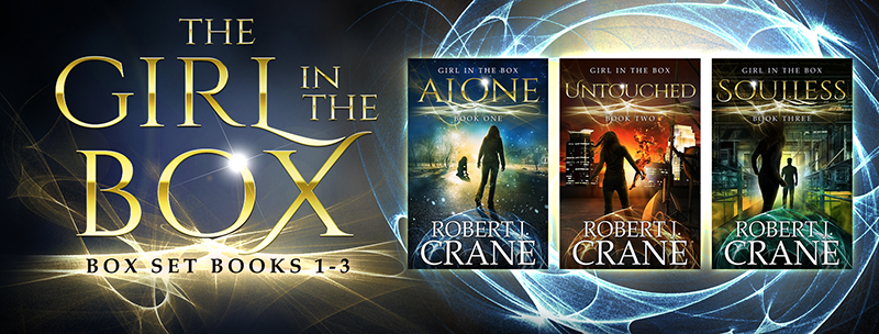 New Covers for Robert J. Crane's Girl in the Box Series