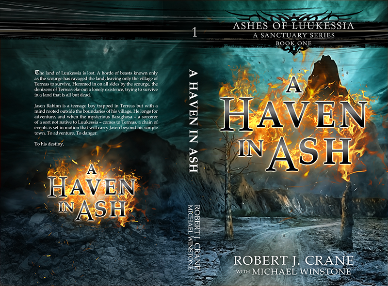 "Cover: ""A Haven in Ash"" by Robert J. Crane"