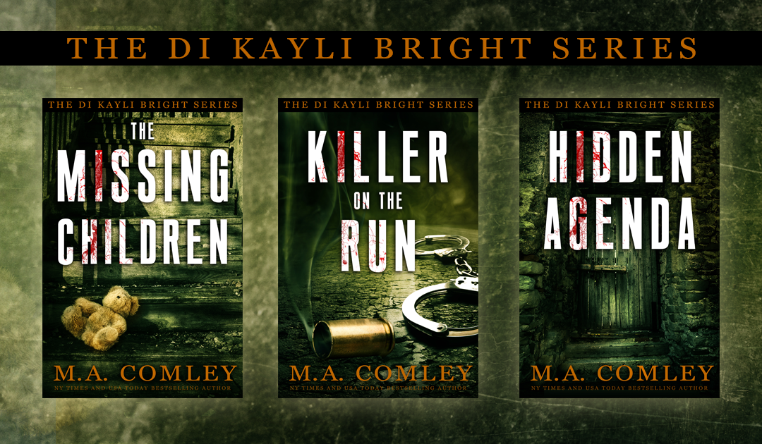 "Covers: ""The DI Kayli Bright Trilogy"" by MA Comley"