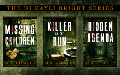 """Covers: """"The DI Kayli Bright Trilogy"""" by MA Comley"""